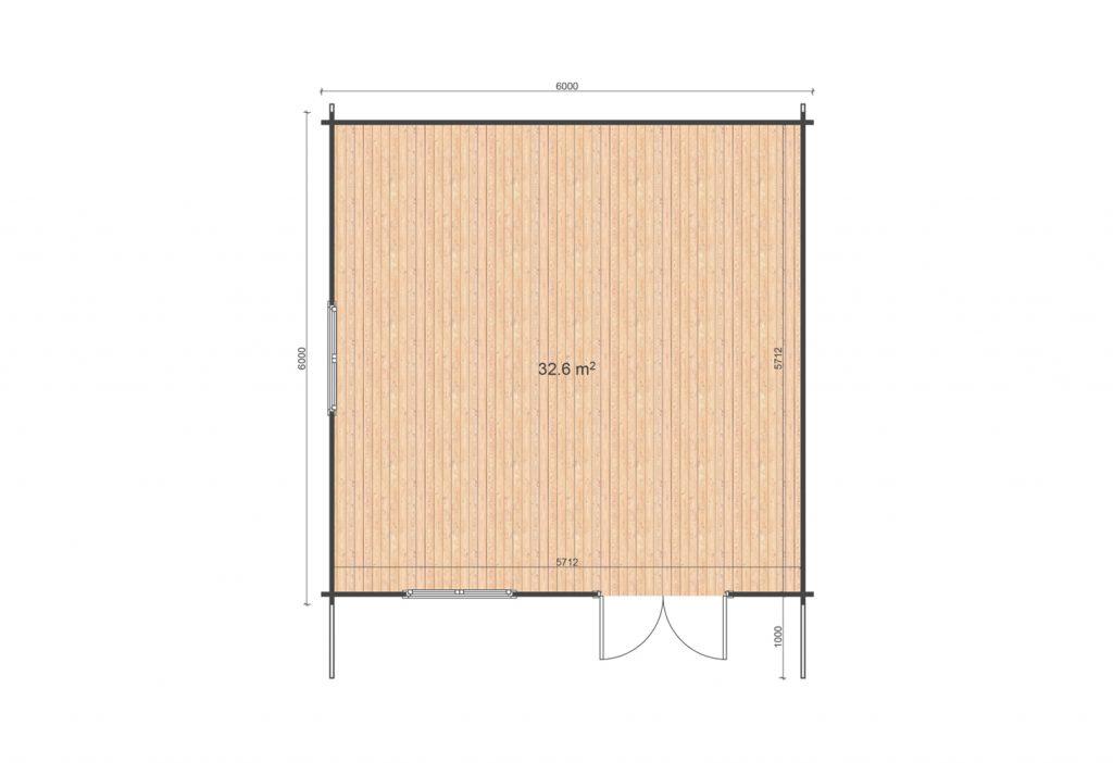 6x6 floor plan